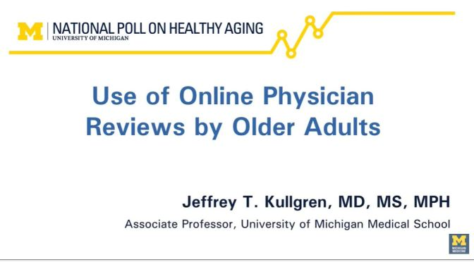 Healthcare: Older Adults Prefer Convenience Over  Reputation In Physicians