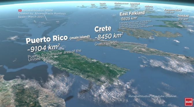Perspectives: The World's Islands In Size Comparison
