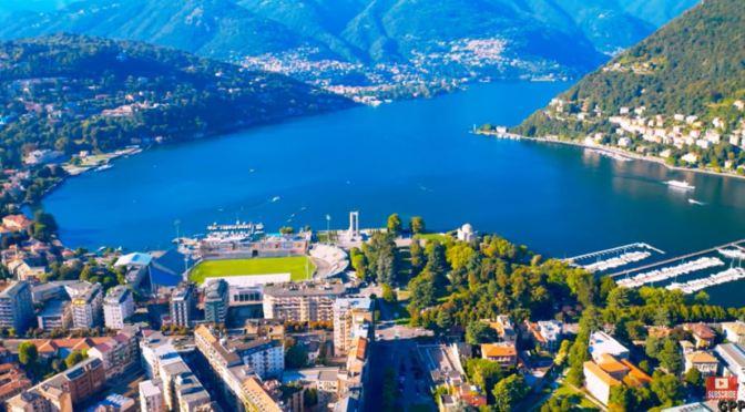 Aerial Views: Lake Como – Northern Italy (4K video)