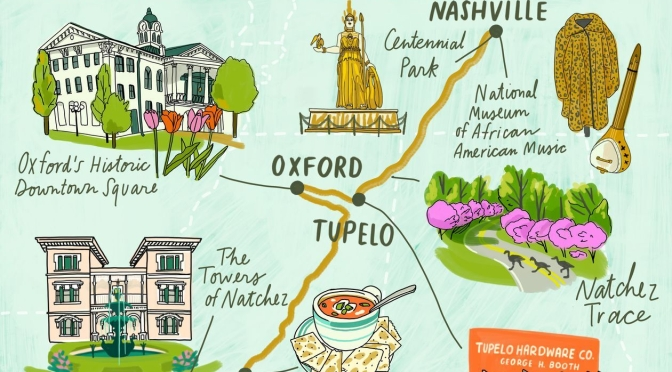 Top Road Trip:  3 Days From Nashville To New Orleans