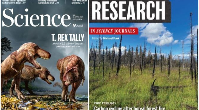 TOP JOURNALS: RESEARCH HIGHLIGHTS FROM SCIENCE MAGAZINE (APRIL 16, 2021)