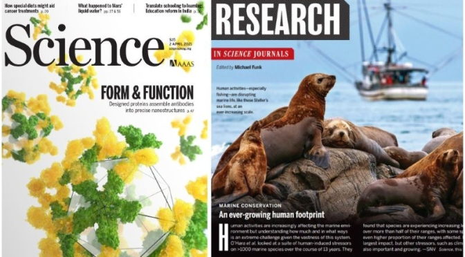 TOP JOURNALS: RESEARCH HIGHLIGHTS FROM SCIENCE MAGAZINE (April 2, 2021)