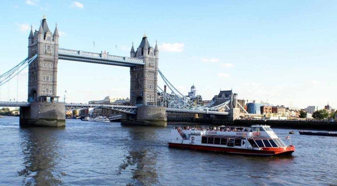 River Views: Boat Tour Of Thames River, London (4K)