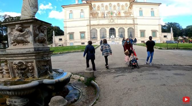 Bike Tour: 'Villa Borghese – Rome, Italy' (4K Video)