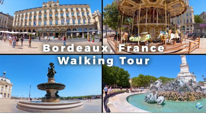Walking Tours: Bordeaux  – Southwest France (4K)
