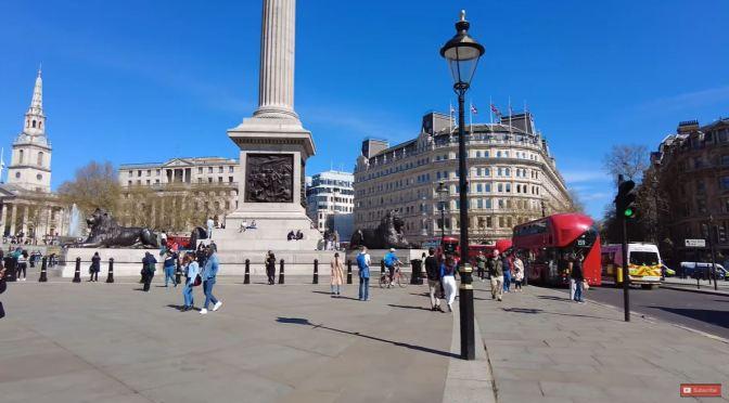 Walks: 'Trafalgar Square To The London Eye' (4K)