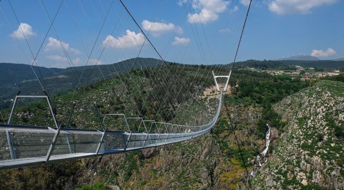 Views: World's Longest Pedestrian Suspension Bridge In Portugal (Video)
