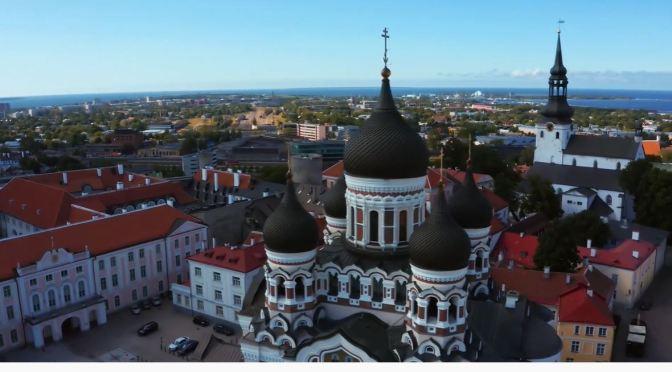 Aerial City Views: Tallinn – Capital Of Estonia (4K)