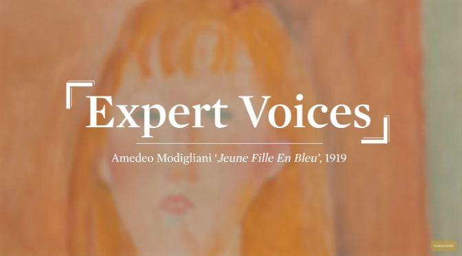Art: 'Jeune Fille en Bleu' By Amedeo Modigliani (1919)