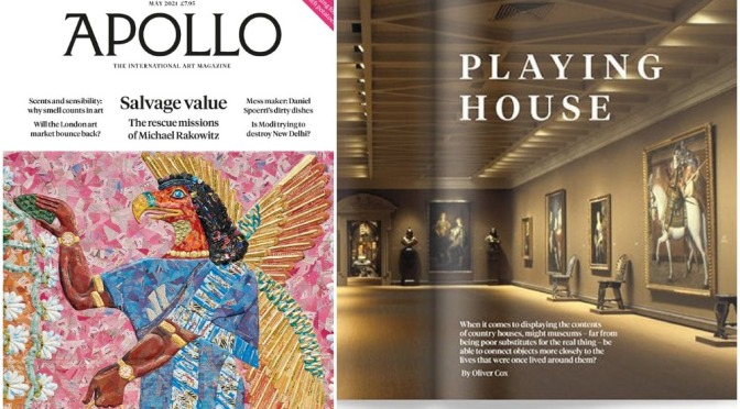 INTERNATIONAL ART: 'APOLLO MAGAZINE – MAY 2021'