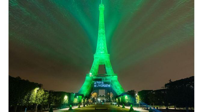 Views: Eiffel Tower Lit Up By Hydrogen Power