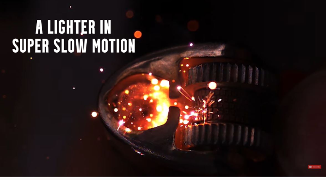 Views: A 'Lighter' In Super Slow Motion (HD Video)