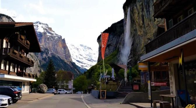 Scenic Swiss Alps Drives: Lauterbrunnen – Valley Of Waterfalls (5K Video)