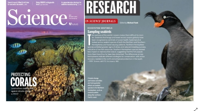 TOP JOURNALS: RESEARCH HIGHLIGHTS FROM SCIENCE MAGAZINE (MAY 28, 2021)