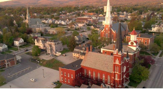 Aerial Views: Rutland – Vermont (4K Video)
