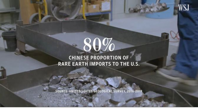 Analysis: How China Came To Dominate Rare Earth Minerals (WSJ Video)