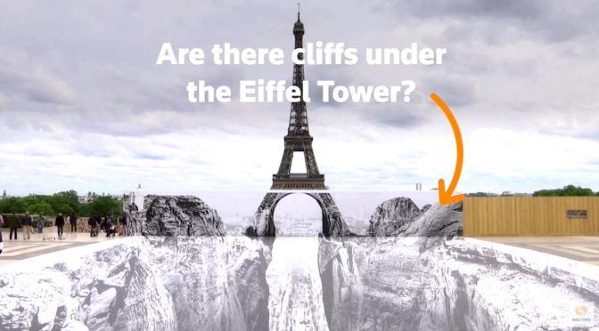 Artistic Views: An Optical Illusion At Eiffel Tower