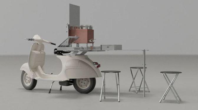 Innovative Design: The World's Smallest Tea Cafe On Back Of A Vespa (Video)