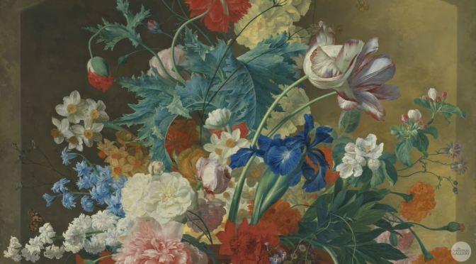 Artwork: 'Flowers In A Terracotta Vase' By Jan Van Huysum (1682-1749)