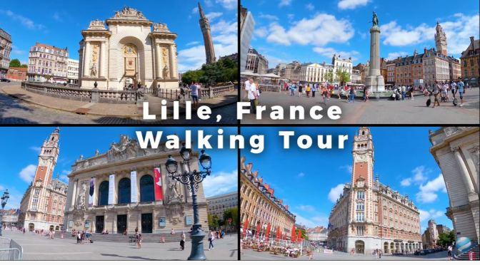Walking Tour: 'Lille – Northern France (4K)