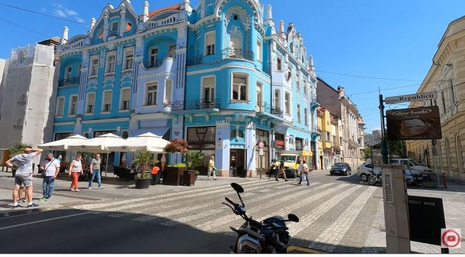 Walking Tour: Oradea – Northwest Romania (4K)