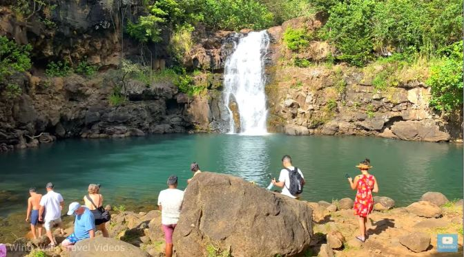 Walking Tour: Waimea Valley Falls, Oahu, Hawaii
