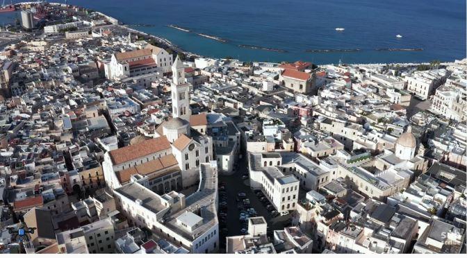 Aerial City Views: Bari – Southern Italy (4K)