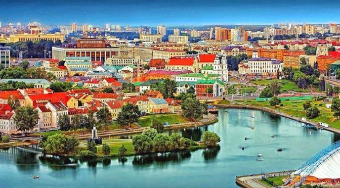 Aerial Views: Minsk – Capital Of Belarus (4K)