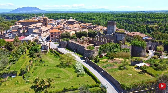 Walking Tours: Village Of Nepi – Central Italy (4K)