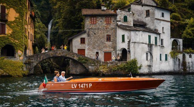 Views: Classic Wooden Motor Boats At Villa d'Este, Lake Como, Italy
