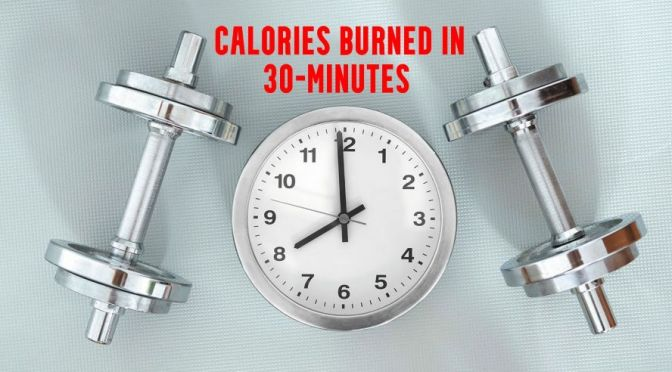 Charts: Calories Burned In 30-Minutes Of Exercise