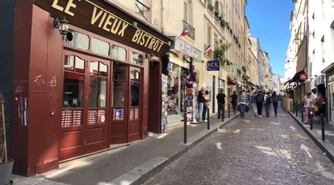 Spring City Walks: Rue Mouffetard – Paris (4K)