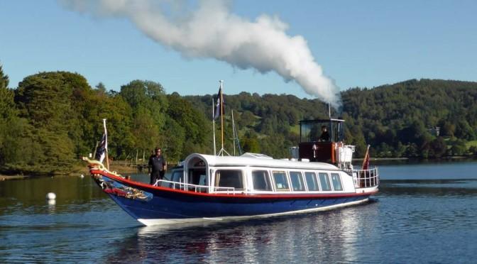 Views: British Steam Yacht Gondola In Lake District