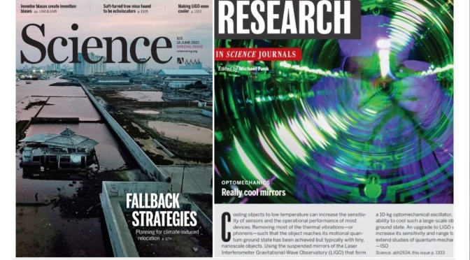 TOP JOURNALS: RESEARCH HIGHLIGHTS FROM SCIENCE MAGAZINE (JUNE 18, 2021)