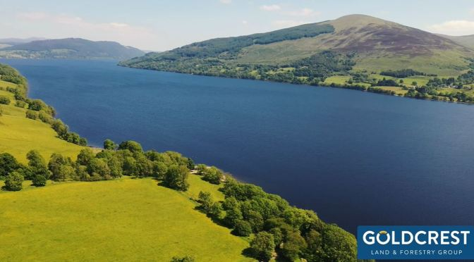 Views: Old Lawers Village On  Loch Tay In Scotland
