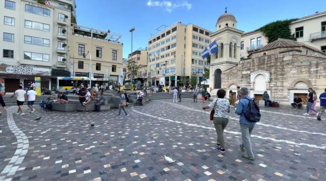 Walks: Monastiraki Area Of Athens, Greece (4K)