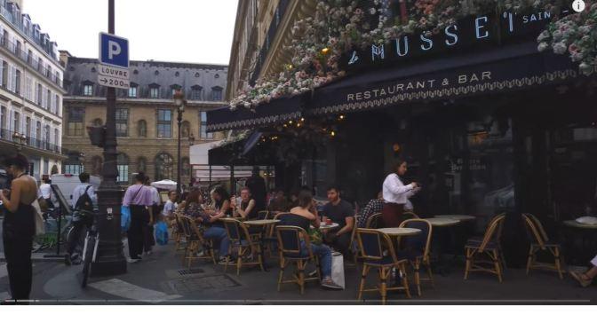 City Walks: Streets & Cafes In Central Paris (4K Video)
