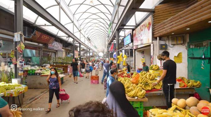 Walks: Ramla City Market In Jerusalem, Israel (4K)