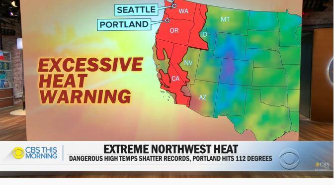 Weather: Northwest U.S. 1000-Yr Record Heat Wave