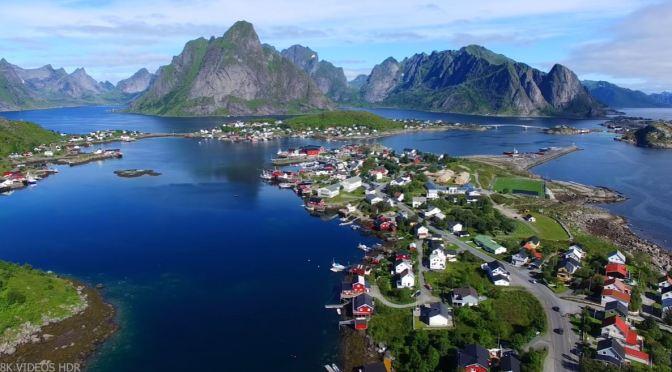 Aerial Views: Lofoten Islands In Norway (8K)