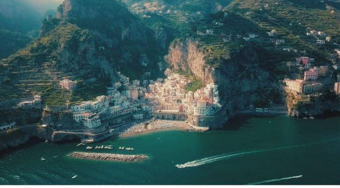 Aerial Views: The Amalfi Coast, Campania, Italy (4K)
