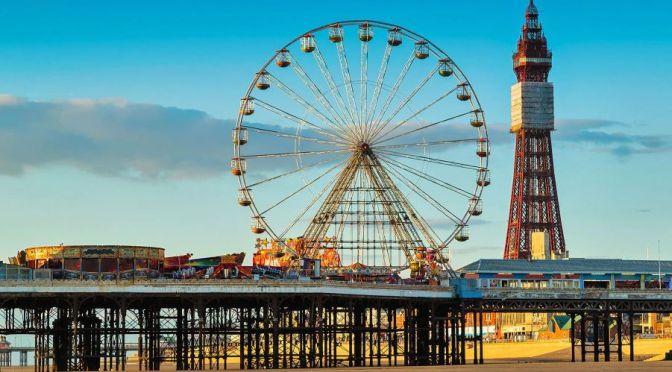 Aerial Views: Blackpool – Northwest England (4K)