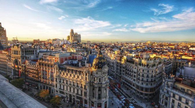 Aerial Views: Madrid – Central Spain (4K Video)