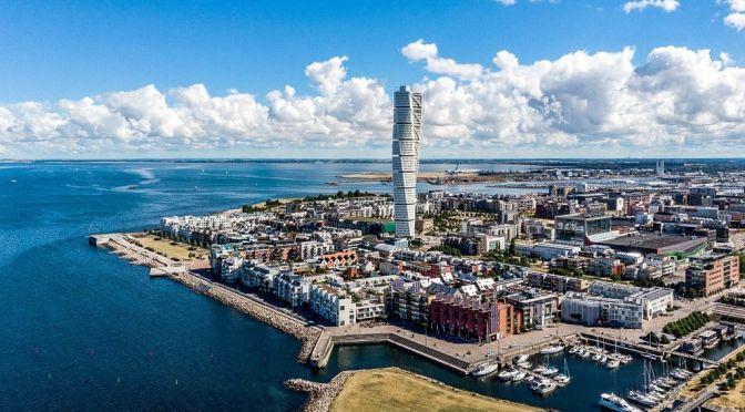 Aerial Views: Malmö – Southern Sweden (4K)