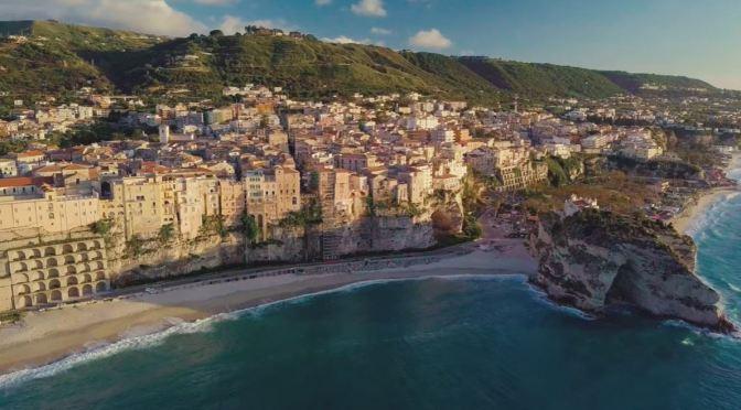 Aerial Views: Tropea In Southwestern Italy (4K)