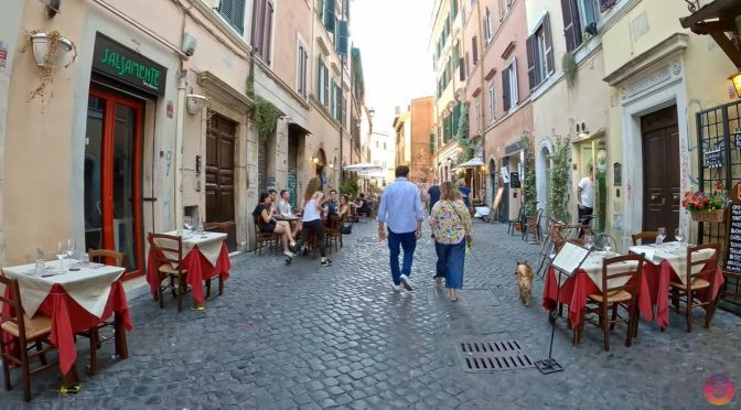 Bike Tours: Trastevere In Rome, Italy (4K Video)