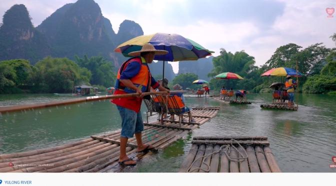 Views: Bamboo Rafting On Yulong River In Ten-Mile Gallery, Yangshuo, China