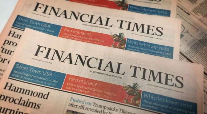 Front Page Views: The 'Financial Times' (July 20)
