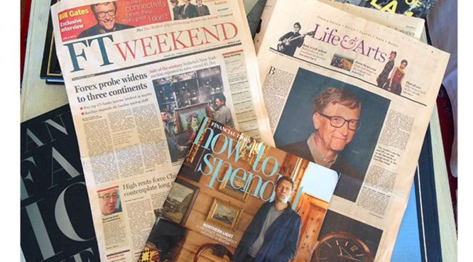 Front Page Views: The 'FT Weekend' – August 21