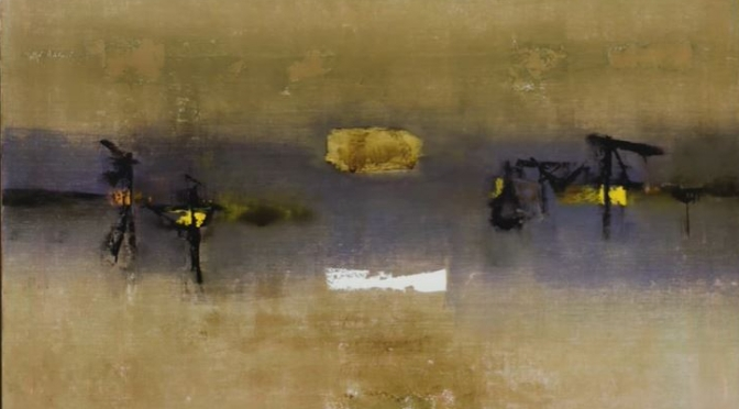 """Art:  Vasudeo S. Gaitonde's """"Painting 4"""" – The Abstract Artist 'Haven From Chaos'"""
